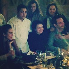 Cote (in the back row, middle) at a birthday party - pretty sure she's still in Chile.
