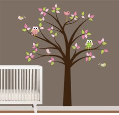 Vinyl Wall Decal Nursery Tree Decal with by NurseryWallArt on Etsy, $79.99