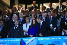 02 Prince William, Catherine Duchess of Cambridge and Prince Harry attended Ruby Game 2015 Opening Ceremony