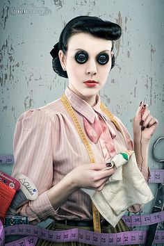 such a great Coraline costume ...