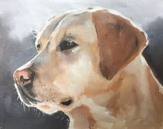 Art Print - Labrador Dog - 8 x 10 inches - from original painting by J Coates by JamesCoatesFineArt on Etsy
