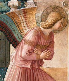 Fra Angelico - The Annunciation -Fresco - Convento di San Marco, Florence - detail (1442-43)