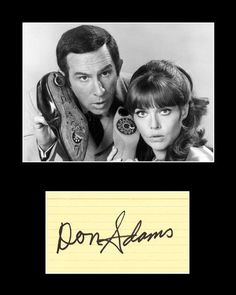 Framed Matted TV Star Don Adams Signed Get Smart Agent 86 Autograph and Photo - TnTCollectibles