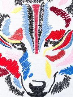 Shop Iceberg embroidered wolf T-shirt  in Stefania Mode from the world's best independent boutiques at farfetch.com. Shop 300 boutiques at one address.