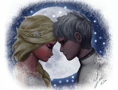 Jack Frost and Elsa by 531154865324.deviantart.com on @DeviantArt