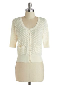 Sweet the Day Cardigan in Ivory, #ModCloth