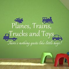 Planes Trains Trucks Toys Wall Sticker Children Playroom Decal Baby Bedroom Boy Room Vinyl Home Play Art Decor(Small,Toys-Blue;Words-White) Geckoo http://www.amazon.com/dp/B00T7L5T6S/ref=cm_sw_r_pi_dp_TN2Kvb188F3B8