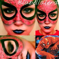 My Spiderman makeup interpretation :) #spiderman #makeup ...