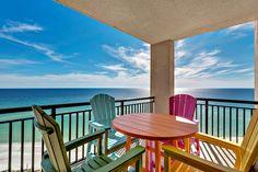 Corner balcony with a panoramic view, courtesy of ResortQuest Gulf Coast Beach Condo, Beach House, Navarre Beach, 3d Home, Beach Vacation Rentals, Us Beaches, Rental Property, Condominium, Balcony
