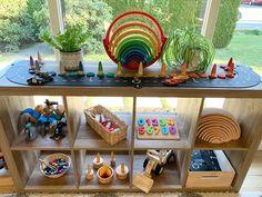 Toy Storage, Storage Ideas, Shelfie, Playroom Ideas, Spring Break, Montessori, Kids Room, Planter Pots, Rooms