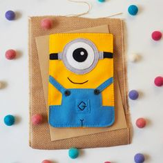 Cute felt gadget cover - iPad case , Tablet case , Kindle case - 100% wool felt cute character , cartoon , yellow blue, gadget sleeve by TheCraftDeskShop on Etsy