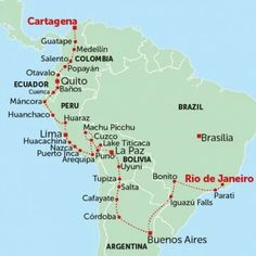 2.5 months South America Itinerary