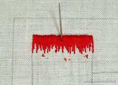 Long and Short Stitch Shading Tutorial on needlenthread.com