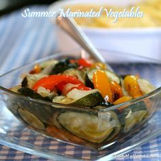 marinated summer vegetables recipe. Gonna fix this tonight from Tommy's garden!!:)
