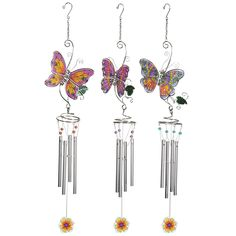 Butterfly Wind Chime Set of Three