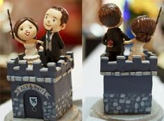 """Instead of I Do they said  """"Always."""" if I can add any harry potter detail to my wedding I think I have found it!! """"Always"""" and this sweet cake topper!!"""