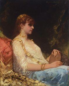 Jean Joseph Benjamin Constant (French,1845-1902) L´orientale au tambour