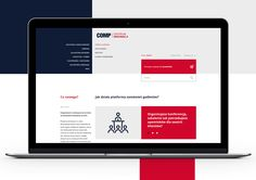 Corporate extranet website on Behance