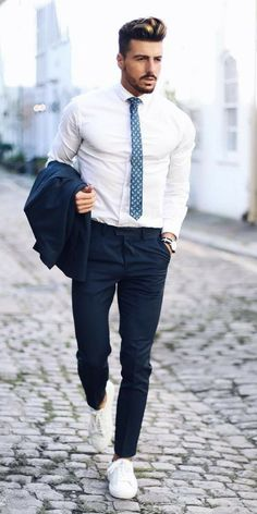Mens fashion - 37 Best Business Casual Outfits For Men This Season Best Mens Fashion, Mens Fashion Suits, Fashion Edgy, Fashion Boots, Fashion Ideas, Vintage Fashion, Formal Fashion, Fashion Black, Cheap Fashion