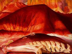 Art History Timelines: View Artwork: Georgia OKeefe, Red Hills and Bones Georgia O'keeffe, Wisconsin, Edward Hopper, New Mexico, Mexico Art, Santa Fe, Georgia O Keeffe Paintings, Pop Art, Philadelphia Museum Of Art