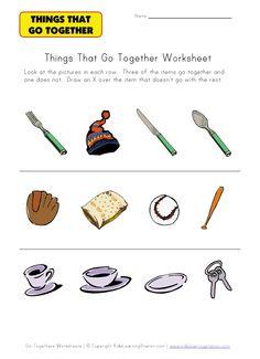 preschool go together worksheet