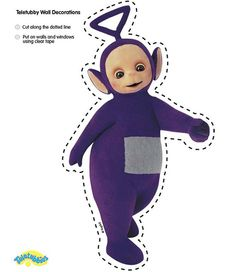 Cute Tinky-Winky cut-out