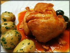 """Pollo Puttanesca is simple and yet delicious Italian dish. Make sure you have plenty of bread to mop up that wonderful sauce, """"scarpetta"""" is a MUST in Italy"""