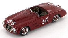 Model of the Ferrari 166 Spider Allemano as driven to victory in the 1948 Giro di Sicilia by Clemente Biondetti - Igor Troubetzskoy