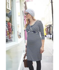 Loving this strippie maternity dress!