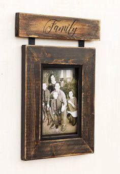 Rustic Wood Picture Frame, Picture Frame, Southwestern Picture Frame, Custom Family Picture frame, Southwestern Decor Rustikaler hölzerner Bilderrahmen Picture Frame Custom Home