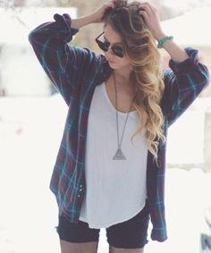 Baggy flannel shirt