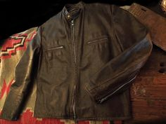 Iron Crow Rockin Vintage - On Sale! Christmas rush is coming! get it now! Vintage British Cycles Brown Leather Cafe Racer with Lenzip zippers size 40, $220.00 (http://www.ironcrowvintage.com/products/on-sale-christmas-rush-is-coming-get-it-now-vintage-british-cycles-brown-leather-cafe-racer-with-lenzip-zippers-size-40.html)