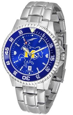 Mens McNeese State Cowboys - Competitor Steel AnoChrome Watch - Color Bezel