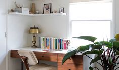 Desk in a small living space.