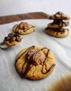 Peanut Butter & Chocolate Thumbprint Cookies