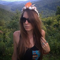 Mountain Mermaid  . @serengetee tanks seashells and mountains. The end to an amazing day in the blue ridge . . . .Tank by @serengetee . Shades by @shadesmonthly . Crown by me  . . #Boho #bohemian #gypsy #hippy #hippie #mermaid #mermaidcrown #shades #mountains #blueridgemountains #summer #goodvibes #goodvibesonly #longhair #longhairdontcare #turquoise #mountainmama #nature_perfection #adventure #exploremore #explore #festival #bohostyle #justgoshoot #travelmore #weartheworld #mermaidtiara…