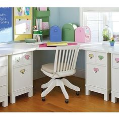 corner desk ideas for kids room