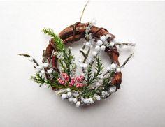 Miniature Winter Wreath With a Woodsy Feel от 4hala на Etsy
