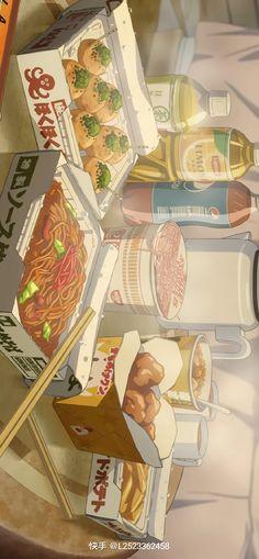 Anime Scenery Wallpaper, Cute Anime Wallpaper, Cartoon Wallpaper, Food Wallpaper, Japanese Aesthetic, Aesthetic Art, Aesthetic Anime, Animes Wallpapers, Cute Wallpapers