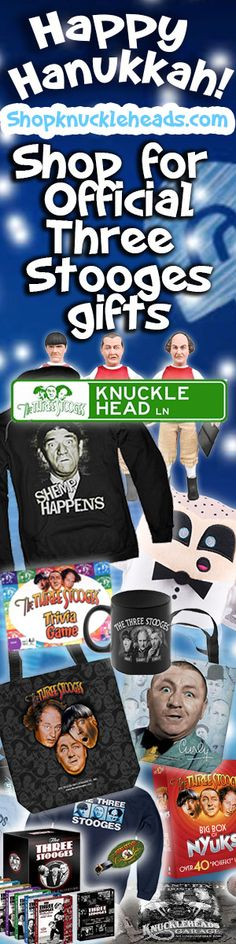 The Three Stooges gifts poifect for Hanukkah gift giving.