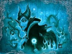 Maleficent's Did you hear that my Pet? Disney Fine Art Giclee by Artist Noah