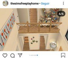 Sims 3, Sims 4 Loft, Lotes The Sims 4, Casas The Sims Freeplay, Sims Freeplay Houses, Sims 4 House Plans, Sims 4 House Building, Sims 4 Kitchen, Sims 4 House Design
