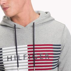 Tommy Hilfiger Logo Hoodie - Cloud Heather M Tommy Hilfiger Outfit, Mens Sweatshirts, Hoodies, Polo Outfit, Superdry Mens, Shirt Print Design, Mens Activewear, Polo T Shirts, Sport Outfits
