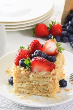 This Easy Napoleon cake recipe consists of rich custard cream and easy puff pastry cake base. You won't believe how quick and easy it is to make! Puff Pastry Desserts, Puff Pastry Recipes, Pastry Cake, Köstliche Desserts, Plated Desserts, Russian Cakes, Russian Desserts, Russian Recipes, British Desserts