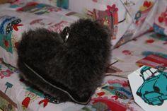 Dorset sheepkin keyring or decoration heart...
