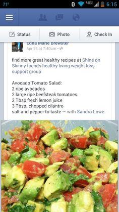 Avocado tomato salad
