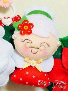 Mamãe noel felt; claus felt christmas