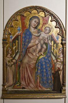 Madonna col Bambino, angeli e il donatore Giovanni da Piacenza     #TuscanyAgriturismoGiratola