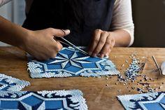 Recorte de papel imita azulejos portugueses - IDEAGRID 1