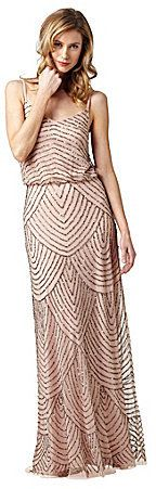 Pink Taupe Adrianna Papell Beaded Gown $260 At Dillard's Stunning beaded gown features a slimming silhouette for a flattering & feminine look. Beaded blouson bodice spaghetti straps V-neckline polyester lined https://api.shopstyle.com/action/apiVisitRetailer?id=332119837&pid=uid841-37799971-81